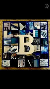 Collage-Canvas-Blue-Art-Initial-Letter-B