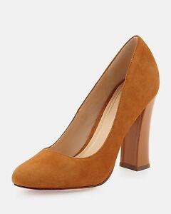 100331b59b6  300 Cole Haan Womens CHELSEA Hi Flared Heel Suede Pump Shoes ...