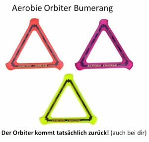 Aerobie Boomerang/Bumerang/Orbiter Frisbee Wurfring Wurfscheibe die zurück kommt