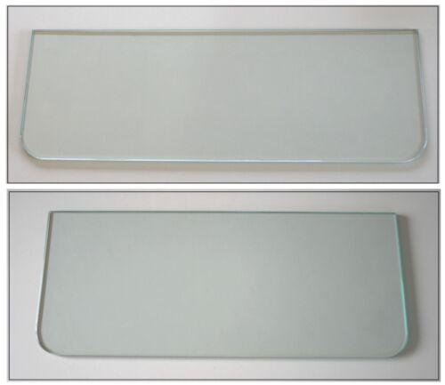 2 Glasscheibe 89,5 cm 2 Tiefen 8mm Klarglas runde Ecken  //OHNE Halterung Wahl