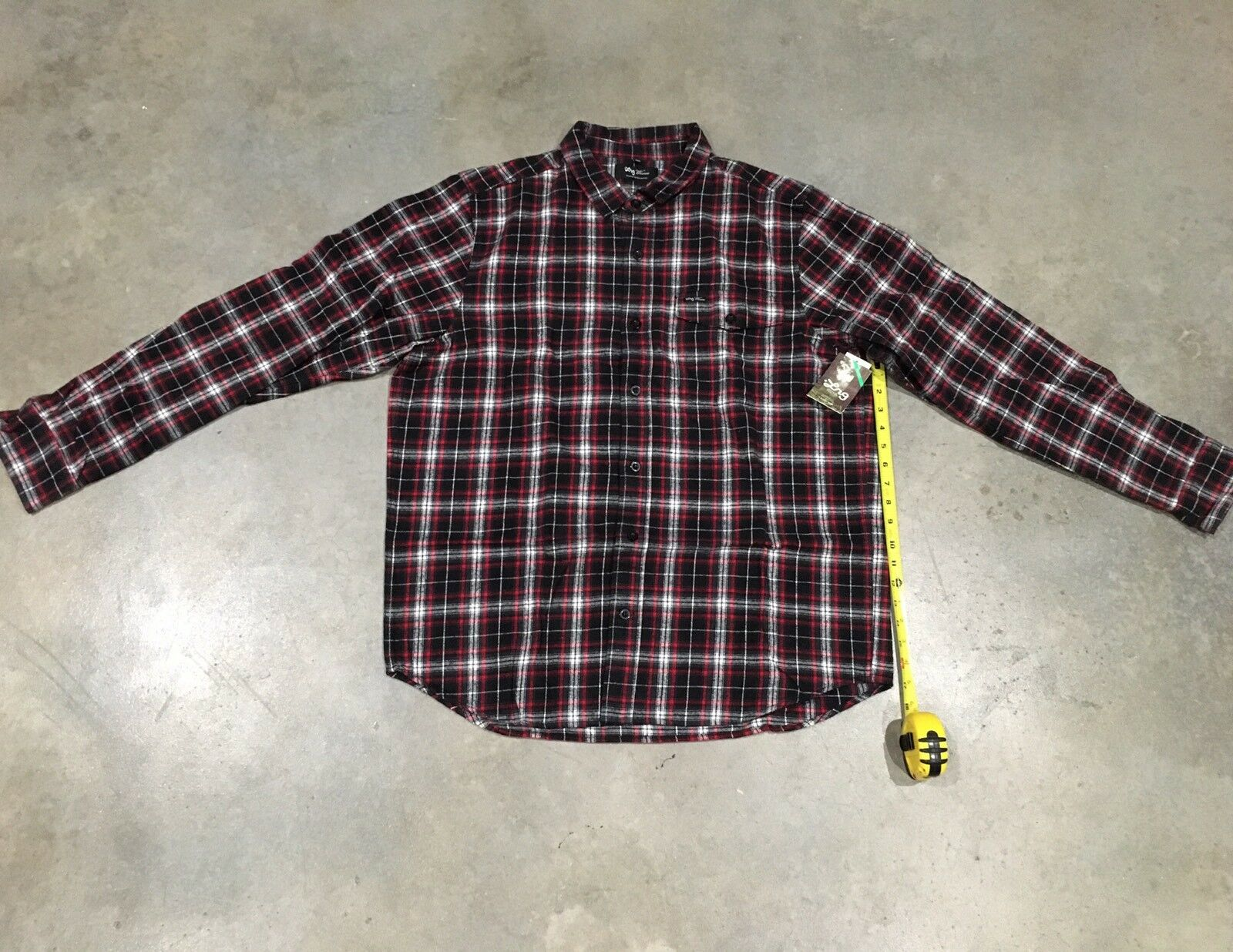 LRG Plaid Longsleeve Button Up In Blk Sz. 2xl Retail    100% Authentic NWT