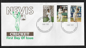 NEVIS-1997-CRICKETERS-Set-of-3v-FDC