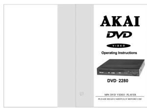 akai dvd 2280 dvd player owners instruction manual ebay rh ebay com akai portable dvd player manual akai dvd player user manual