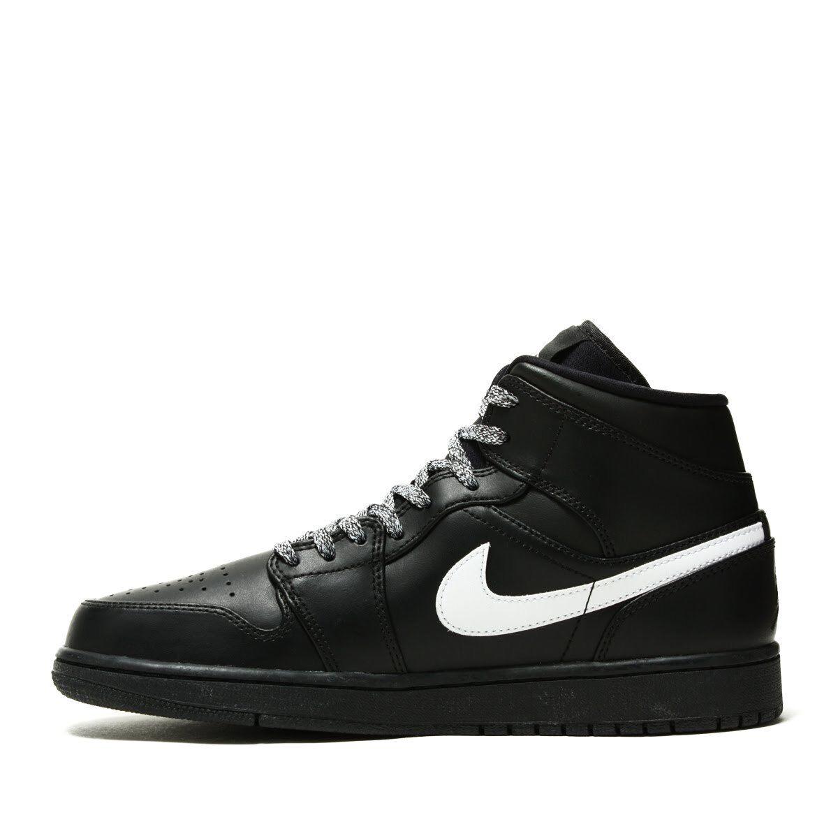 Los hombres de Nike Air Jordan 1 medio 04 baloncesto Negro 554724-049 us7-11 04 medio ' e46770
