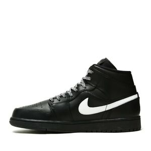 7656516f61d6 Nike Men Air Jordan 1 Medio Basketball Black 554724-049 US7-11 04 ...