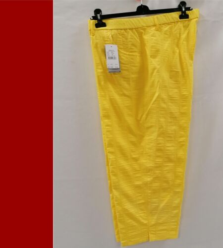 KJ Brand 7//8 Pantaloni Babsie GIALLO-Wash /& Go NUOVO-molto avanti superiore
