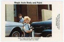 Postcard - San Diego California Magic Auto Body and Paint Advertising - C. 1970s