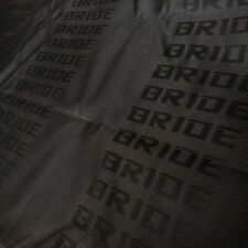 Full Black Bride Fabric Seat Cover For Recarobride Racing Seat Cover 1m X 16m