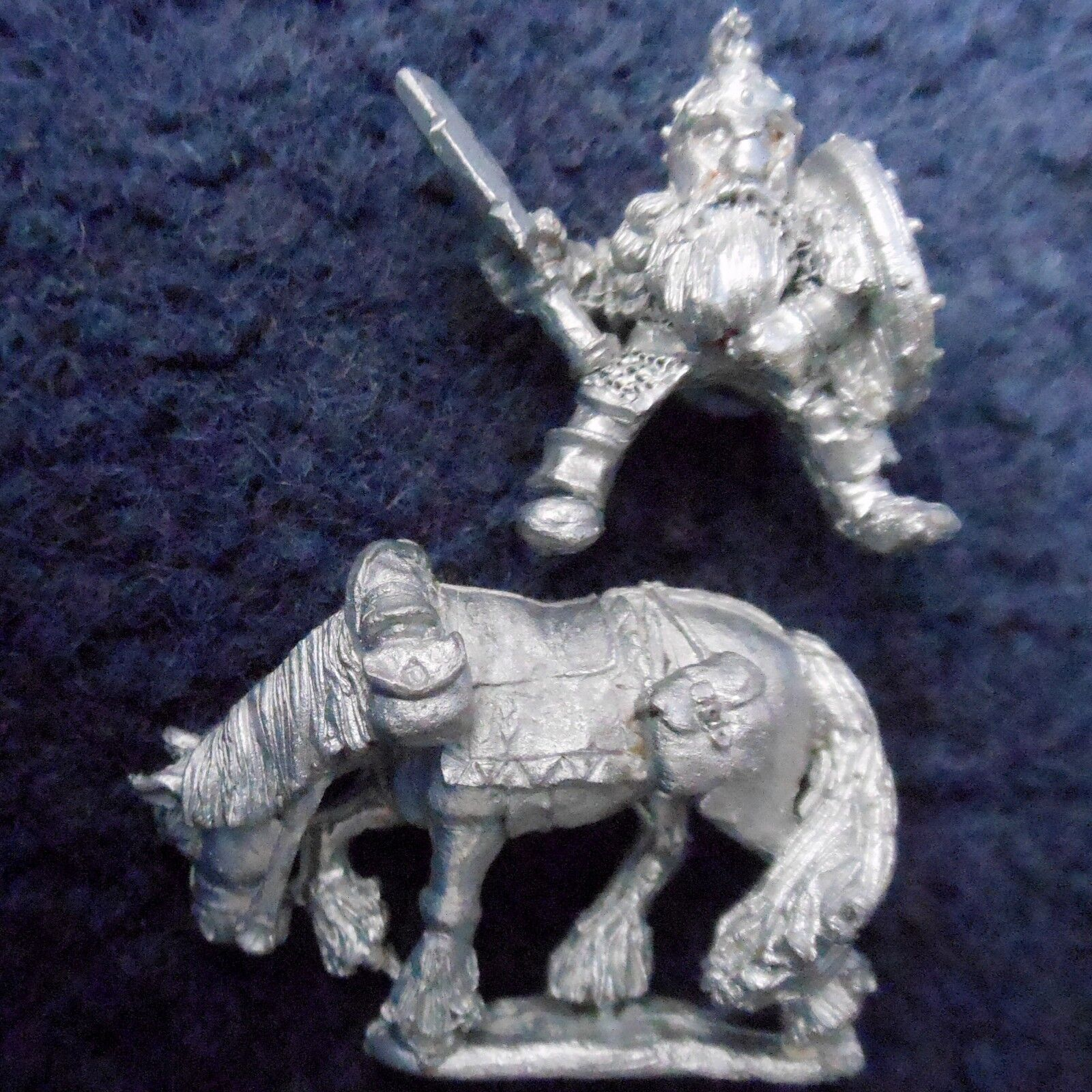 1985 Dwarf ME15 Gimli Mounted Lord of the Rings Citadel Hero LOTR AD&D Warhammer