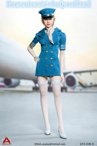 "ACPLAY 1//6th 5 Colors Female Aviation FLight Suit Cloth ATX038 F 12/"" Action Body"