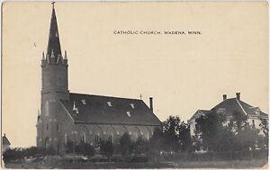 Minnesota-Mn-Postcard-c1910-WADENA-Catholic-Church-Building