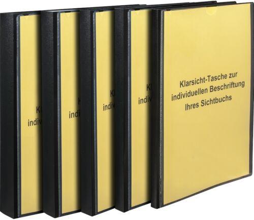 Sichtbücher 10-60 Hüllen aus PP schwarz Sichtbuch Sichtmappe Prospektmappe