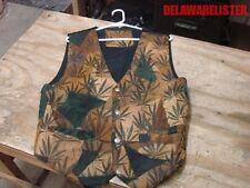 Marjuana Cananbis Weed Ganja Pot Smoker's Smoke Men's Jacket/Vest Size:M