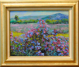 Sage-Original-framed-oil-on-canvas-11-034-x14-034-painting-from-artist