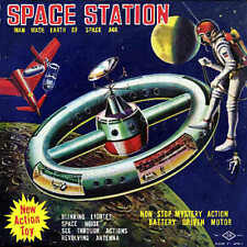 Giclee Print of the Box-Art from the Rare SH Horikawa NASA Space Station Toy