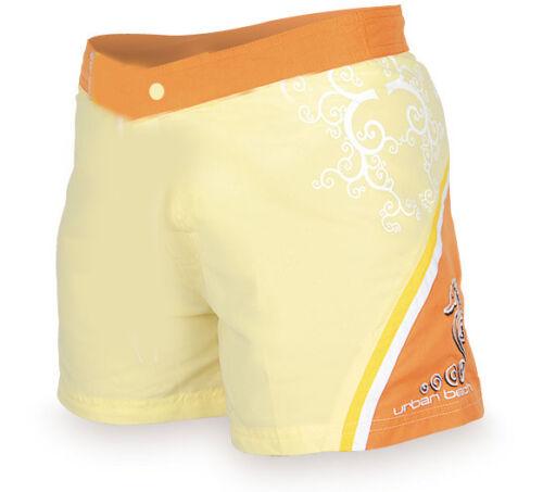 Mesdames urban beach orange planche de surf short baignade estivale casual wear toutes les tailles