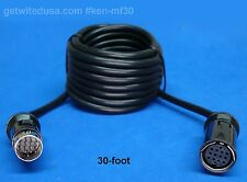 30-FT 13-PIN EXTENSION MALE FEMALE CABLE for KENWOOD & CLARION CCA308-R CA-