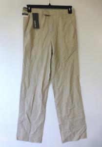 Croft & Barrow Mens Size 33X30 Pleated No Iron Comfort Waist Khaki Pants New