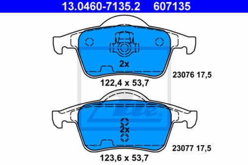 384 für VOLVO S60 I ATE Powerdisc Bremsscheiben Beläge Hinterachse HA