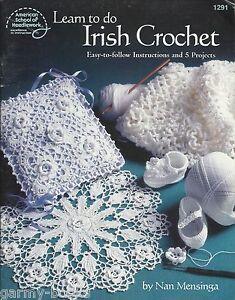 Learn-to-do-Irish-Crochet-Nan-Mensinge-Project-Instruction-Pattern ...