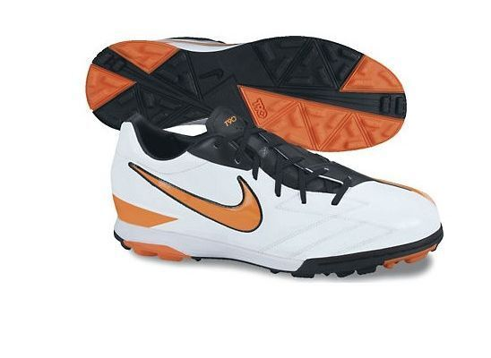 Nike Total 90 Shoot IV TF Turf 2018 Soccer Shoes Brand New White - Orange Black