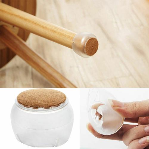 1//4//8x Silicone Chair Leg Cap Feet Table Legs Covers Anti-slip Floor Protector