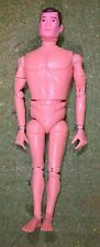VINTAGE ACTION MAN 40th NUDE NAKED DOLL BROWN PAINTED HAIR HARD HANDS