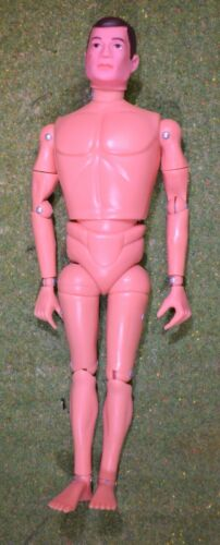 VINTAGE ACTION MAN 40th NUDE NAKED DOLL BROWN PAINTED HAIR HARD HANDS 1//6 SCALE