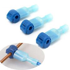 50Stk/Set  Schnellverbinder für Kabelschuhe Blau Stromdiebe Abzweigverbinder