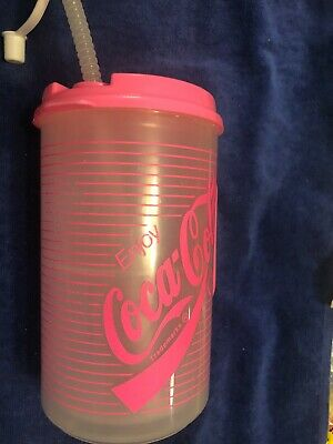 Cool Gear Coca Cola Tumbler Cup With Straw,Classic Coke Paisley//Bandanna 20oz