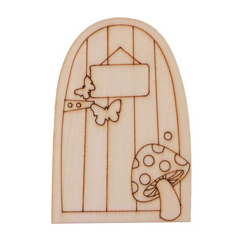 10 Fairy Gardens Crafts Wooden Fairy Door Shaped Embellishment Kids DIY Toys