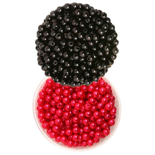 1000 Stücke 6mm Nachahmung Perle Lose Perlen für DIY Halskette Armband