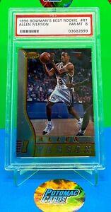 1996-Allen-Iverson-Bowman-039-s-Best-Rookie-R1-PSA-8