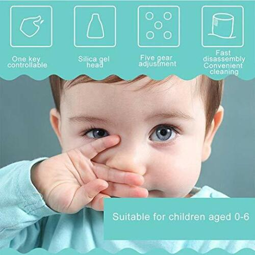 Hot Electric Baby Silicone Nasal Aspirator Vacuum Sucker Nose Mucus Snot Cleaner