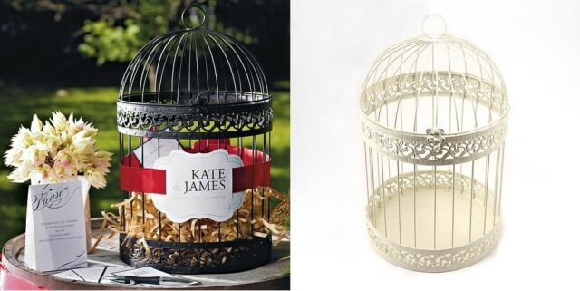 Decorative Birdcage Spring Wedding Wishing Well Card Holder Money Box Reception