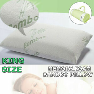 Hotel-Bamboo-Memory-Foam-Bed-Pillow-Hypoallergenic-Firm-Neck-Back-Pain-King