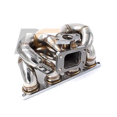 Turbo Manifold SCHEDULE40 T3 38mm WG FOR Honda Civic CRX Del Sol D15 D16 SOHC
