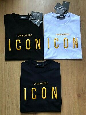 LOGO ICON DSQUARED2 Icon Men T-Shirt Short Sleeves 100/% Cotton Embroidered