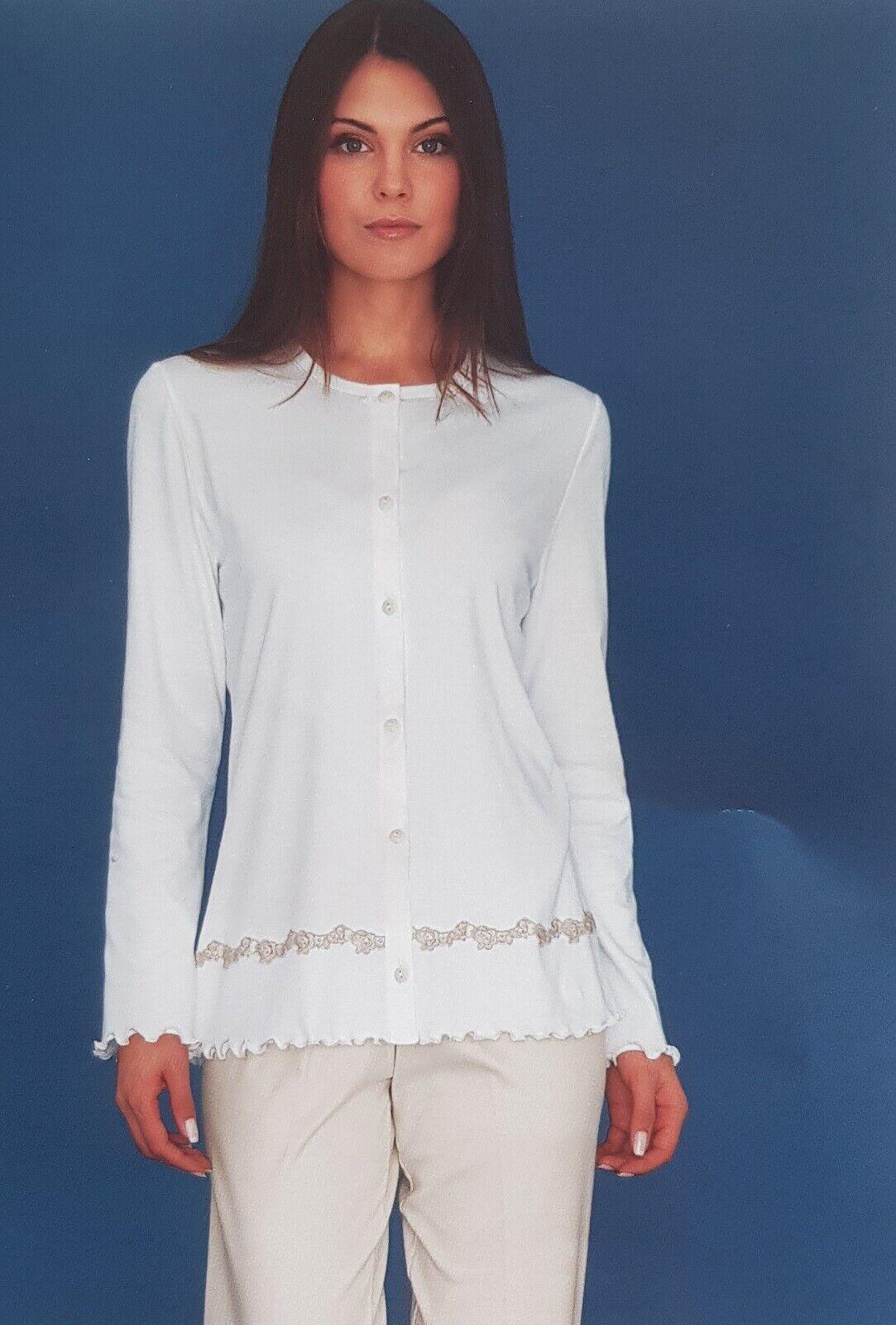 Women's Pajamas Winter Open Linclalor Warm Cotton 100% 91138 Maxi Outsize