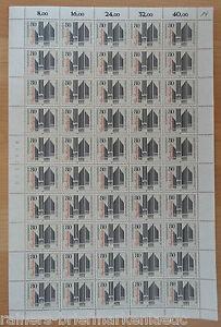 Bund-BRD-1323-kompl-Bogen-Dietrich-Buxtehude-sauber-postfrisch-Full-sheet-MNH