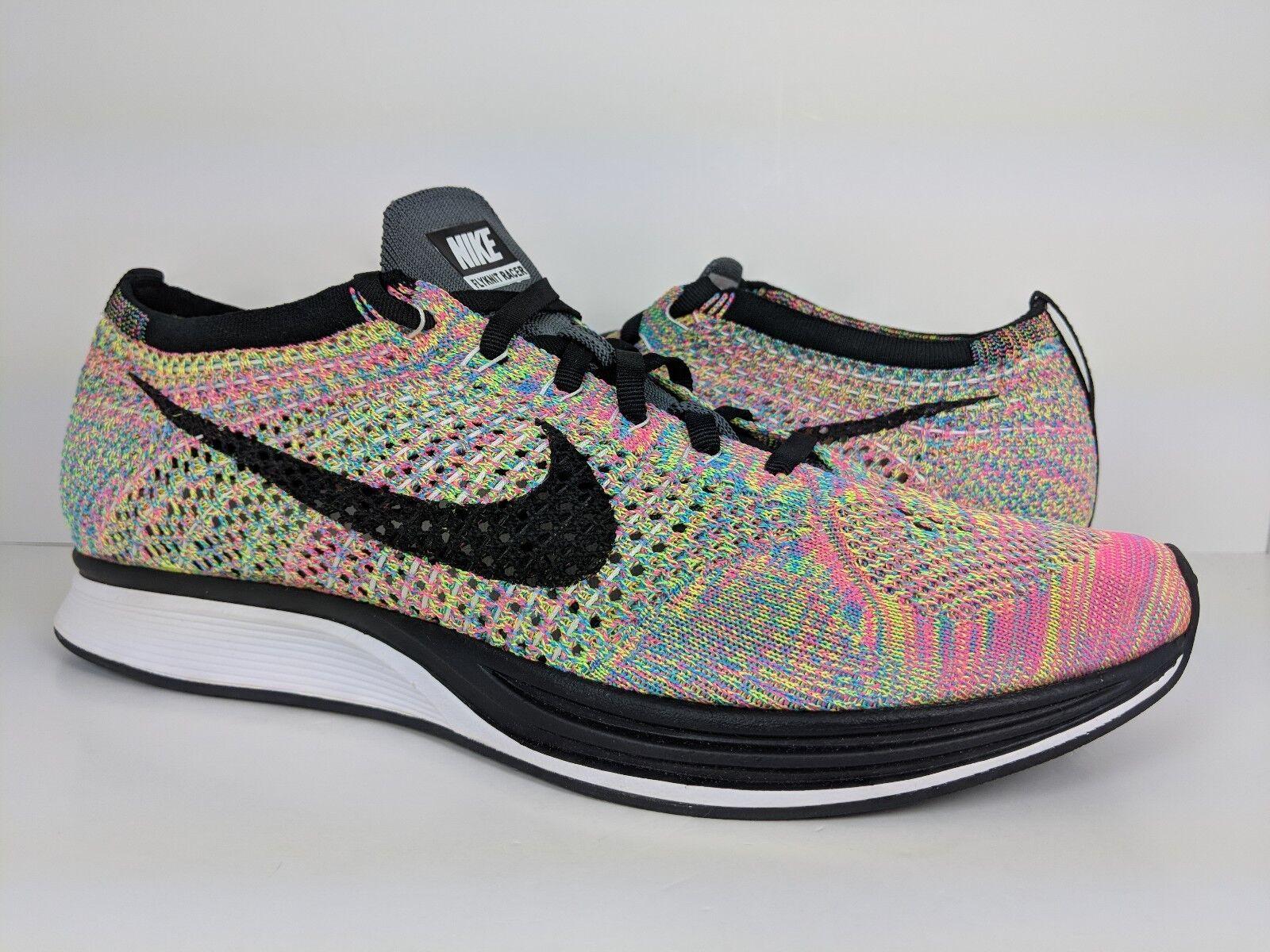 Nike Flyknit Racer Multicolor Multi-Color (526628-004) sz 10 Men's / sz 11.5 Wmn