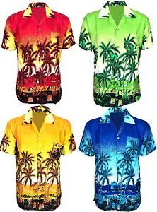 Nuevo-Para-Hombres-Camisa-Hawaiana-Vestido-Vintage-Aloha-Fancy-Stag-Playa-Camisas-Tops-Funky