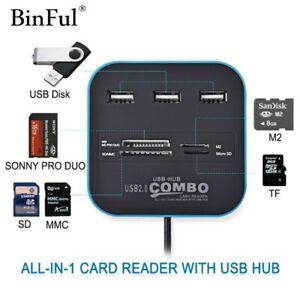 USB-Hub-2-0-480Mbps-USB-Combo-Card-Reader-All-In-One-Multi-USB-Splitter-For-PC