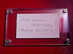 William-Wetmore-Story-signed-signature-Sculptor-Poet-1819-1895-autograph