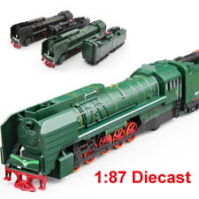 HO Scale 1/87 Diecast Train Locomotive & Carriage Pull Back with Sound Light