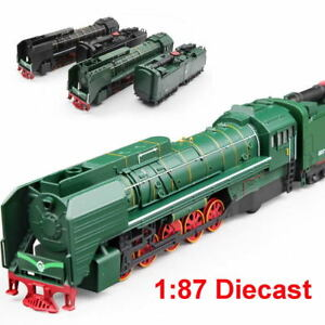 HO-Scale-1-87-Diecast-Train-Locomotive-amp-Transport-Tirez-avec-lumiere-sonore