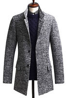 Mens Luxury Slim Fit Bokashi Wool Single Coat Blazer Jacket Jumper Top W016- S/M