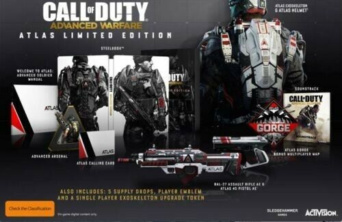venta con alto descuento PS4 CALL OF DUTY ADVANCED WARFARE - - - ATLAS LIMITED EDITION - NEW AND SEALED  comprar marca