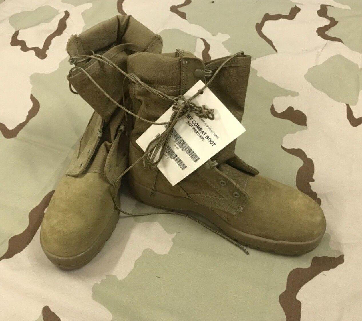 Scarpe casual da uomo  MCRAE OCP COYOTE HOT WEATHER BOOTS US ARMY ISSUE 9.5 REG VIBRAM SOLE