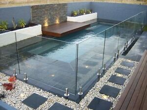 New Frameless Glass Balustrade Spigot System Full Kit 10mm Toughened Glass Ebay